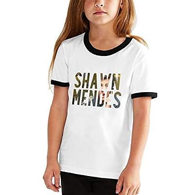 CUSARTSHOP Teen Kids Short Sleeves Baseball Tee Youth Cotton T-Shirts, Shawn Mendes Fan Logo
