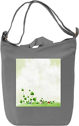 Animated Print Borsa Giornaliera Canvas Canvas Day Bag| 100% Premium Cotton Canvas| DTG Printing|