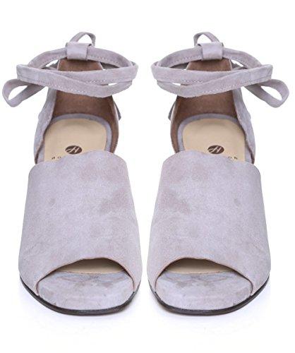 Zapato De Mujer HUDSON LONDON Metta Ante UK6 EU39 US8 Grey