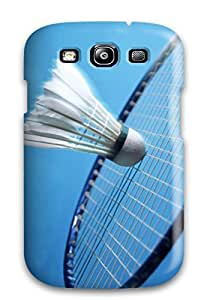 S3 Scratch-proof Protection Case Cover For Galaxy/ Hot Badminton Sport Phone Case