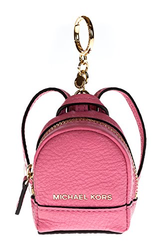 MICHAEL Michael Kors Rhea Backpack Leather Key Charm (Misty Rose)