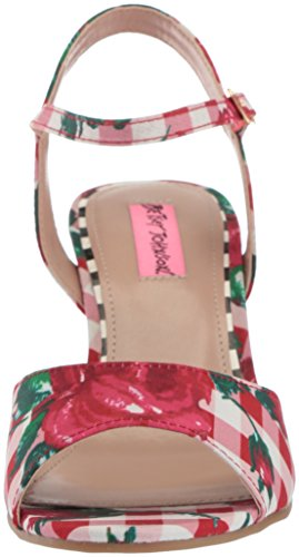 Betsey Johnson multi Sandales Red Femmes Compensées fFgf8PvSW