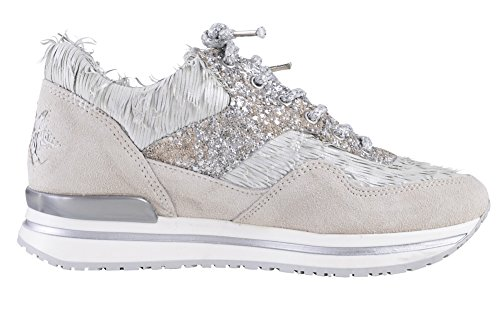 Gold 2Star Shoes Women's Beige Lime Punch,White,Silver Textile Sneaker 35