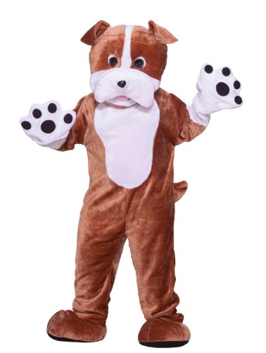 Forum Deluxe Plush Bulldog Mascot Costume, Brown, One Size