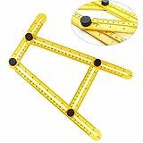 Vibola Plastic Ruler New Faction Yellow Multifunctional Angle Model Angle Ruler Plastic Measuring Tool