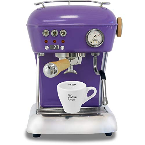 Ascaso Dream Up V3 Intense Violet PID Wood Handle Semi-Automatic Espresso Machine - w/Ascaso Cup & Saucer