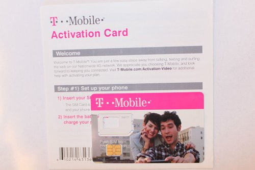 T-Mobile NANO SIM Card (CUSTOM CUT) with Prepaid Activation Kit