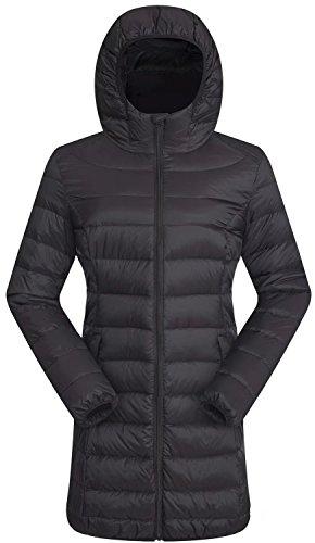 Valuker Women's Down Coat With Hood 90% Down Parka Puffer Jacket Light