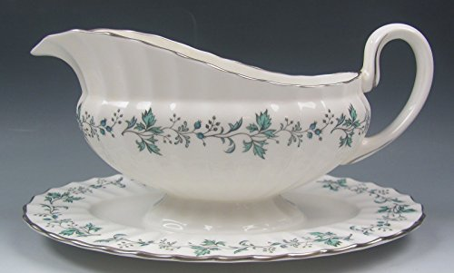 - Royal Worcester China CHAPEL HILL Gravy Boat with Attatched Underplate EXCELLENT