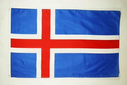BANDERA de ISLANDIA 90x60cm - BANDERA ISLANDESA 60 x 90 cm - AZ FLAG