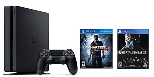 Playstation-4-Slim-2-items-Bundle-PlayStation-4-Slim-500GB-Console-Uncharted-4-Bundle-and-Mortal-Kombat-XL