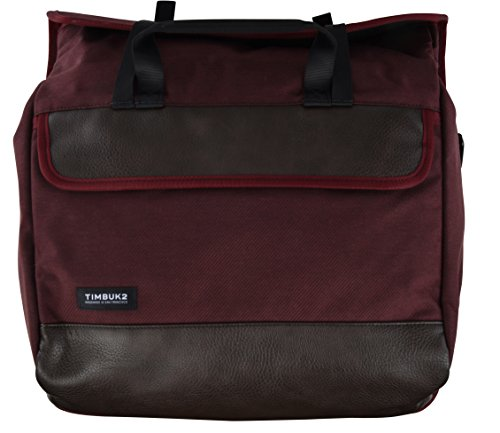 Timbuk2 Prospect Laptop Messenger Bag (One_Size, Currant Twill/Faux Leather)