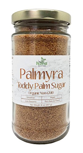 Palmyra Toddy Palm Sugar - Granulated | 100% Pure & Authentic | Low Glycemic Unrefined Natural Sweetener by Nana Solutions