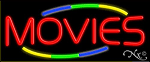 13x32x3 inches Movies NEON Advertising Window Sign by Light Master