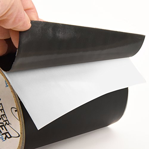 Patch & Shield Power Tape Black - All Weather Patch Tape | Stretchy Sealing Tape for Roofing, Waterproof Tape for Pipes | Patch Holes & Cracks | Butyl Tape 4 inch x 5 feet