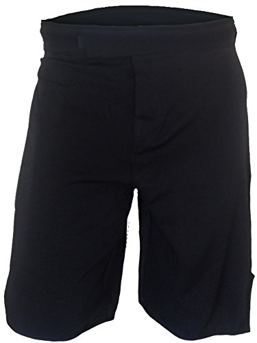 Epic MMA Gear Blank WOD MMA Shorts - No Logo (34, Black/Black)