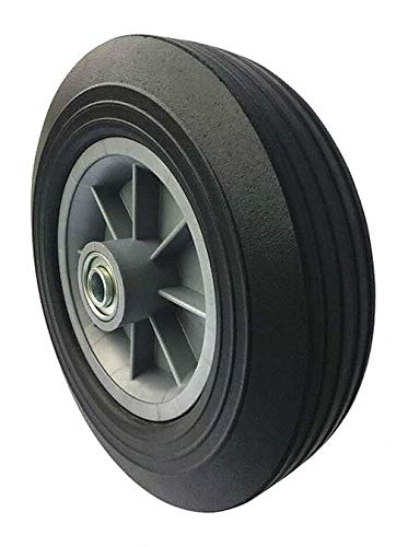 10'' Light-Medium Duty Ribbed Tread Solid Rubber Wheel, 500 lb. Load Rating pack of 5