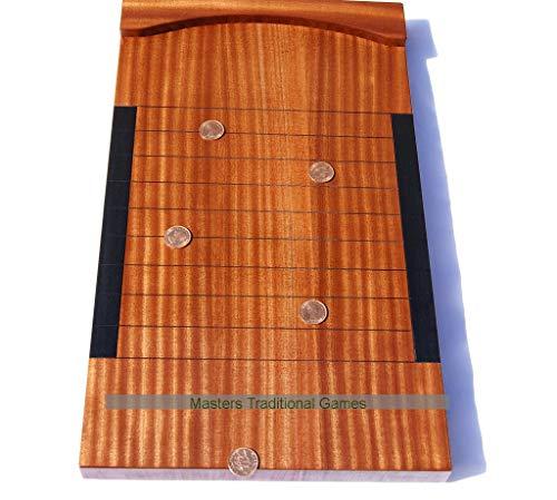 Masters Premium Hand-Made Mahogany Shove Ha'Penny Board