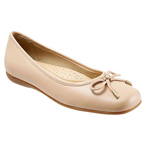 Trotters Womens Sante Ballet Flat Nude