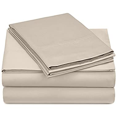 Pinzon 500-Thread-Count Pima Cotton Sheet Set - Queen, Canvas