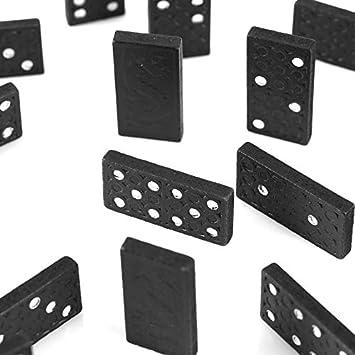 HOBFUES Juego de dominó Juego de fichas de dominó de 28 Piezas ...