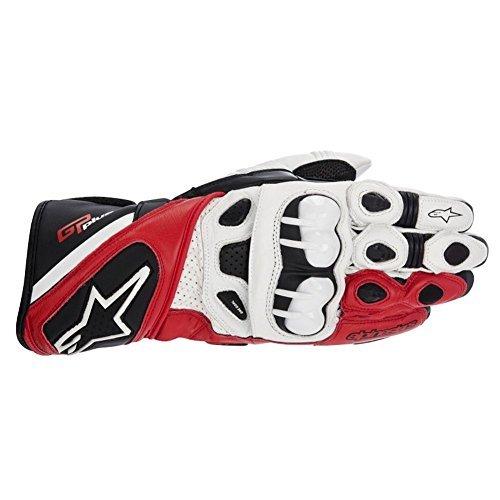 Alpinestars GP Plus Leather Motorcycle Gloves-White/Blue-3X-Large