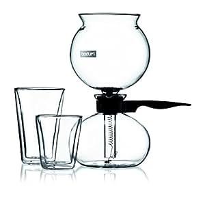 Bodum Pebo Vacuum Coffee Maker, 8 cup, 1.0 l, 34 oz., Black