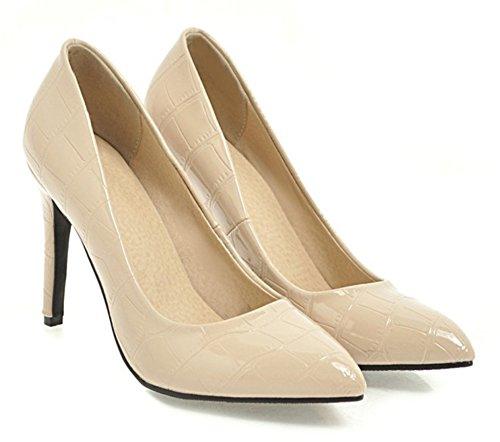 Aisun Femmes Sexy Bruni Coupe Basse Bout Pointu Talon Haut Habillé Partie Mariée Slip Sur Pompes Chaussures Nu