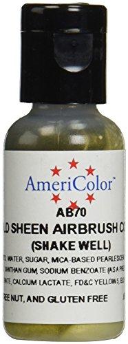 Price comparison product image AmeriColor AmeriMist Edible Paint & Airbrush Colour - Gold Sheen - .65 oz