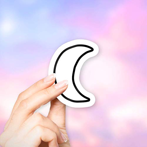 Moon Outline Sticker for Laptops and Water Bottles