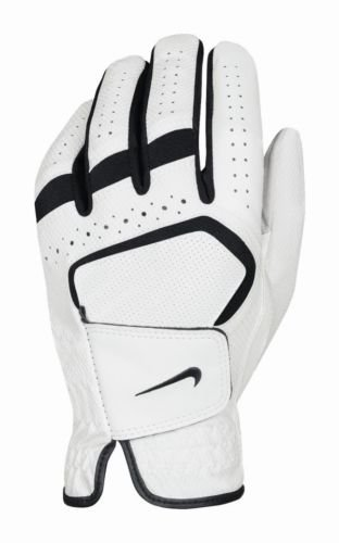 Nike Women's Dura Feel IV Regular White Golf Glove, Left Hand, Large