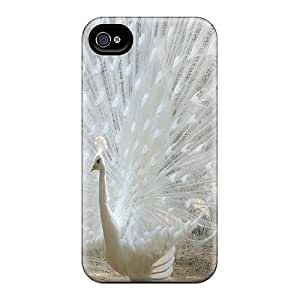 New Arrival Case Cover With UoXfagb1327PaDpz Design For Iphone 4/4s- White Peacock