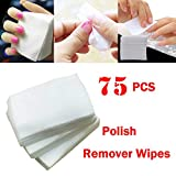 Vertily 75pcs Light Weigh Multi Purposes Lint Free Nail Art Gel Polish Remover Cotton Pad Nail Wipe