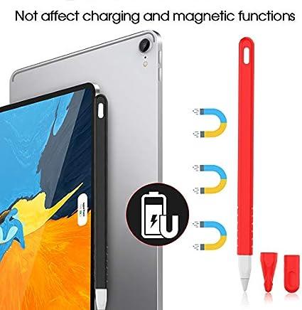 VEVICE /Étui en Silicone pour Apple Pencil 2/ème g/én/ération avec poign/ée et 2 Protections de Plume pour iPad Pro 11 12,9 2018