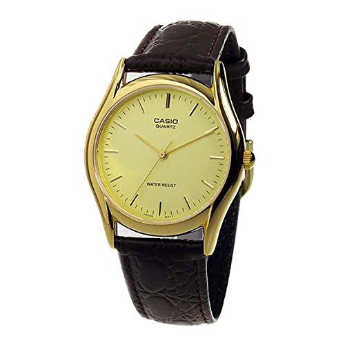 Casio Brown Leather Men's watch - Watch Brown Leather Dark