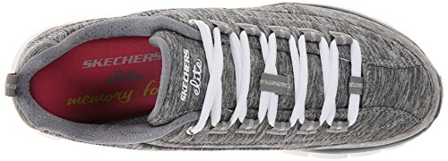 Skechers Sport Damen Synergie Spot On Wide Fashion Sneaker, Grau