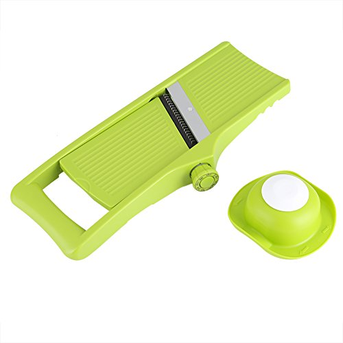 Vegetable Slicer, Asixx Mandolin Cutter with Adjustable Thickness for Tomato Potato Carrot, Made of Food Grade ABS Plastic