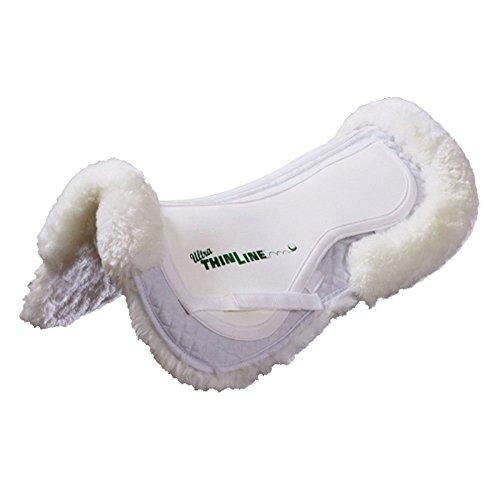 (Thinline Ultra Trifecta Full Sheepskin Half Saddle Pad White Medium)
