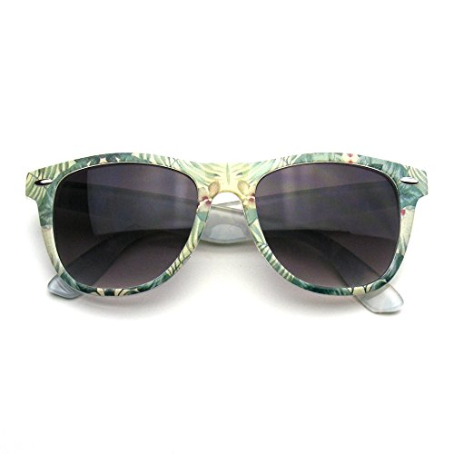 Retro Indie Fun Pattern Color Assorted Print Sunglasses (Green - Print Sunglasses
