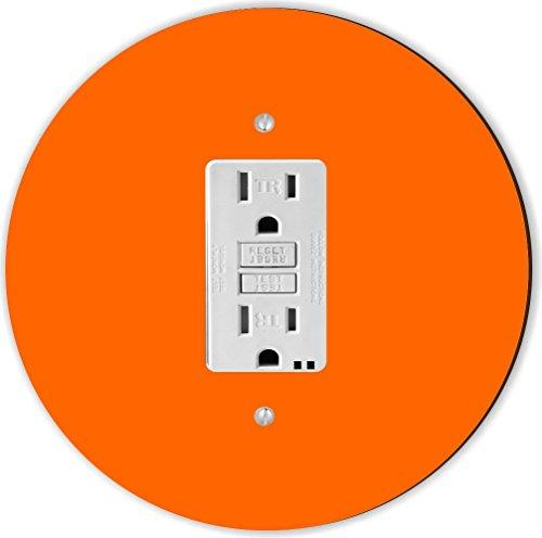 Rikki Knight RND-GFISINGLE-165 Round Single GFI Light Switch Plate, Orange by Rikki Knight