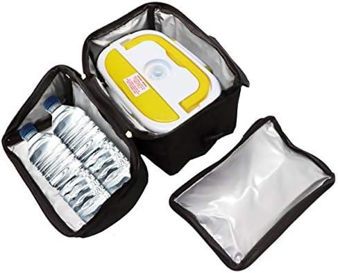 Spice Set sac isotherme avec bandoulière + chauffe-plat jaune en inox, bac amovible en acier inoxydable Borsa Term + Doppio Voltaggio 1,5 L Bianco,giallo,nero