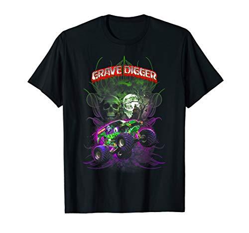 Grave Green Digger T-shirt Monster Truck Shirt Tee for men -
