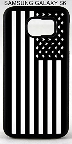 Black & White American Flag America Stars Stripes Print Design Custom Rubber Phone Case Cover is compatible with Samsung Galaxy s3 s4 s5 s6 s7 s8 s8 Plus Note (Samsung Stripe)
