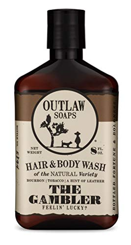 The Gambler Natural Hair and Body Wash - Smells like Fortune and Boldness - 8 oz - Feel lucky with Bourbon, Tobacco, and Leather - Men's or Women's Shower Gel
