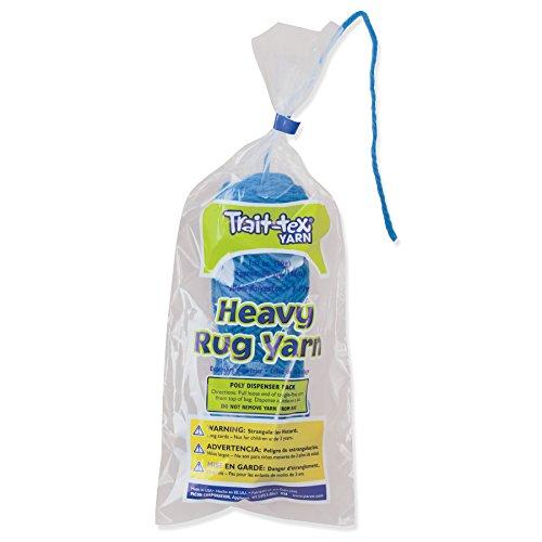 (Trait-tex PAC04213BN Heavy Rug Yarn, True Blue, 60 Yards Per Pack, 6 Packs)