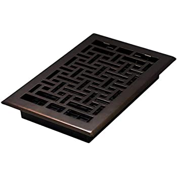 Decor Grates AJH610-RB Oriental Floor Register, 6-Inch by 10-Inch, Rubbed Bronze