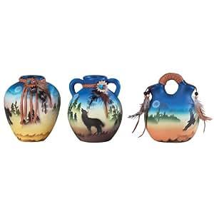 Gifts & Decor Mini Southwestern Western Style Vases Gift, Set of 3