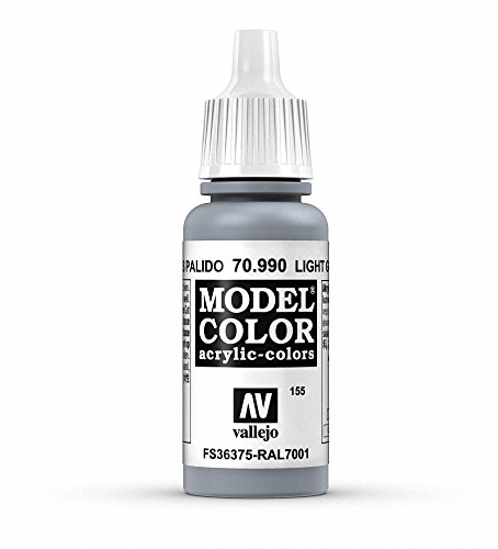 Vallejo Light Grey Model Color Paint, 17ml ()