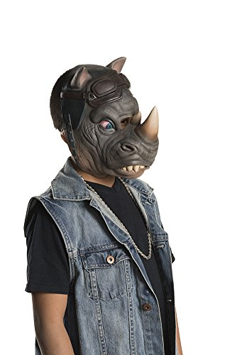 Rocksteady Tmnt Costume (Rubie's Costume Kids Teenage Mutant Ninja Turtles 2 3/4 Rocksteady Mask)