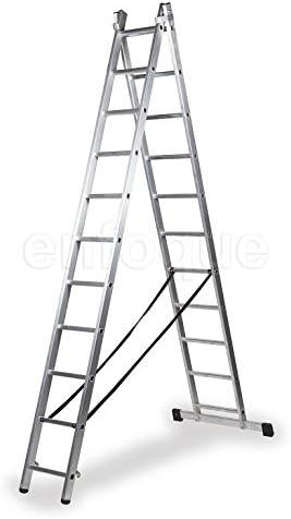 ALTIPESA Escalera Profesional de Aluminio transformable Apoyo-Tijera con Base un Acceso 2 x 11 peldaños Serie bis: Amazon.es: Hogar